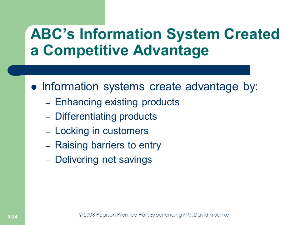 ABC's Information System Created a Competitive Advantage