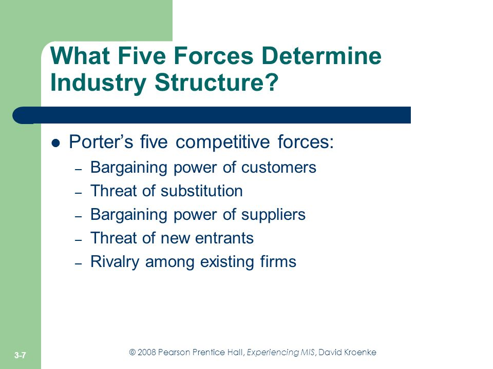 What Five Forces Determine Industry Structure