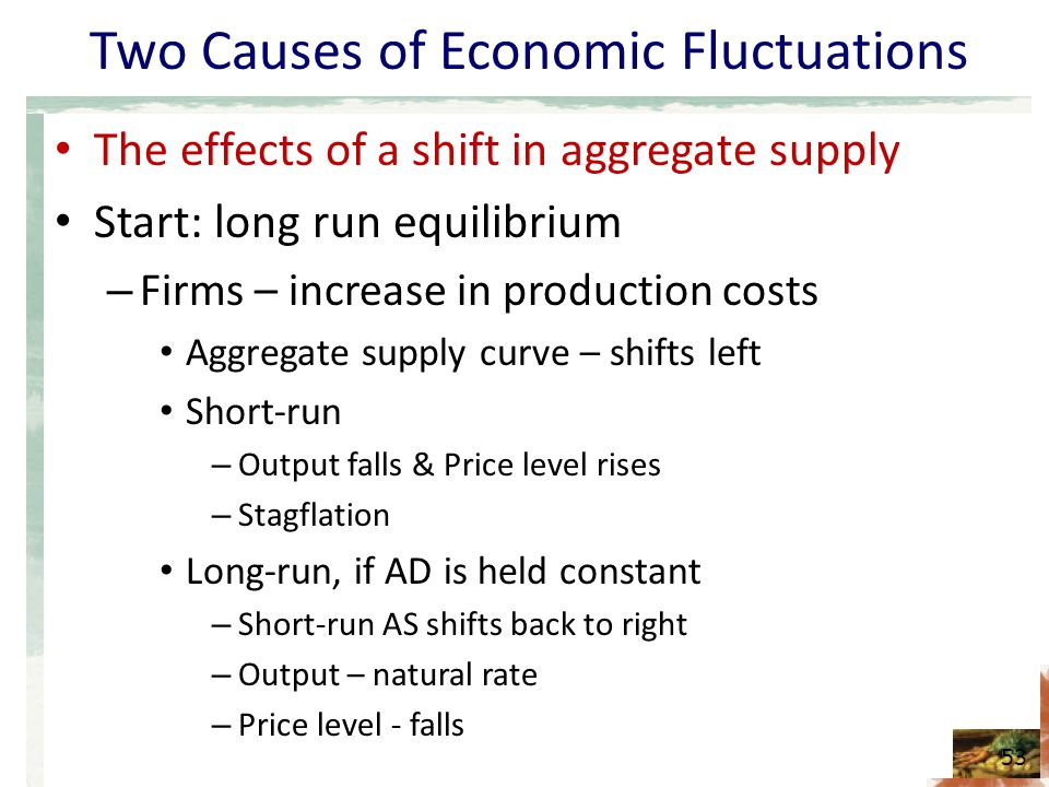 accommodating an adverse shift in aggregate supply Assuming aggregate demand is unchanged, a negative supply shock in a product or a commodity causes its price to spike upward while a positive supply shock exerts when output is increased, the price of the good decreases due to a shift in the supply curve to the right, and the reverse is true when output is decreased.