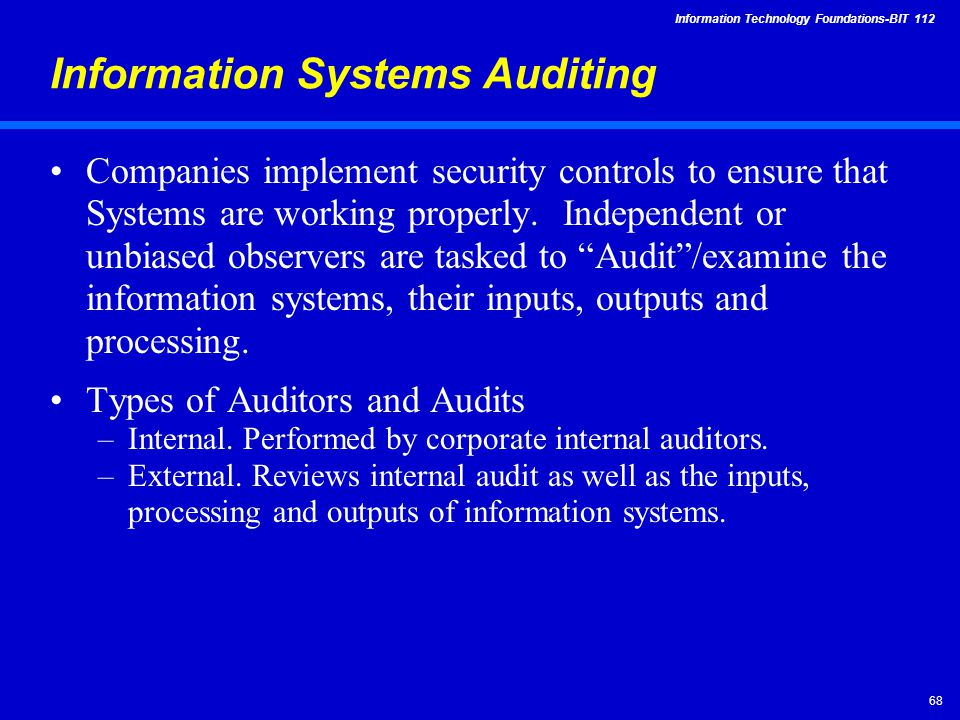 IT security auditing: Best practices for conducting audits