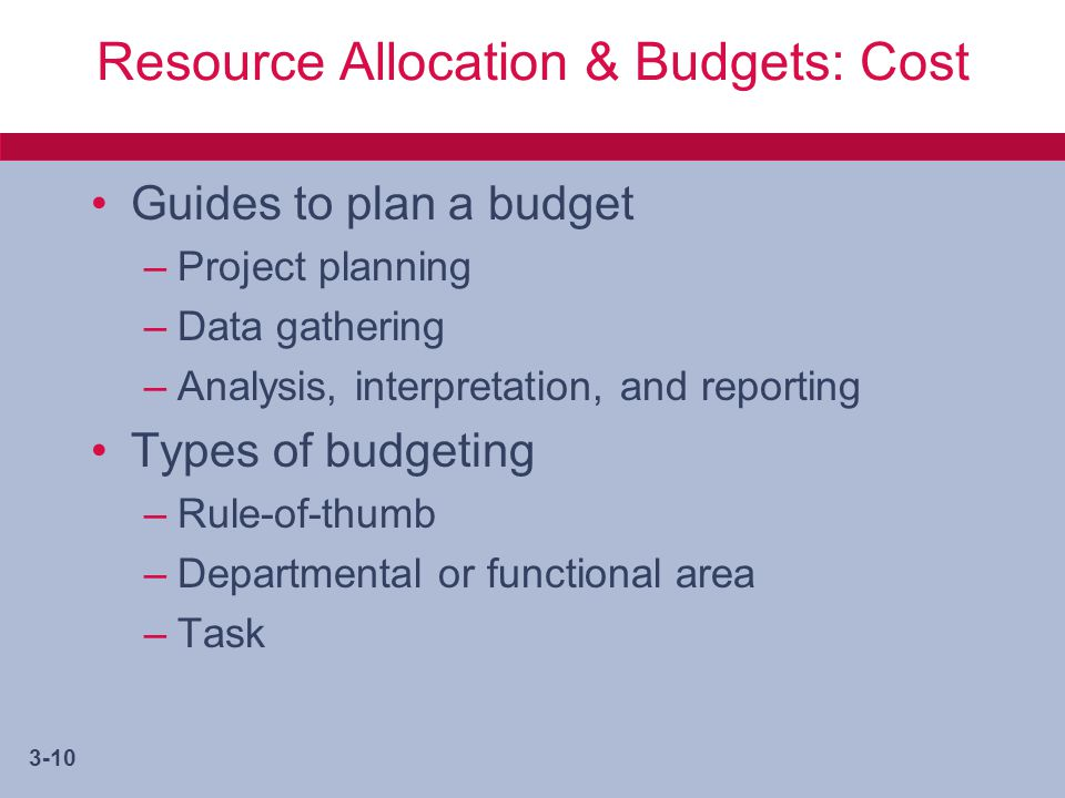 the three methods of resource allocation The three methods of resource allocation throughout history, there have been three primary mechanisms for allocating resources in a traditional economy, resources are allocated according to the long-lived practices of the past.