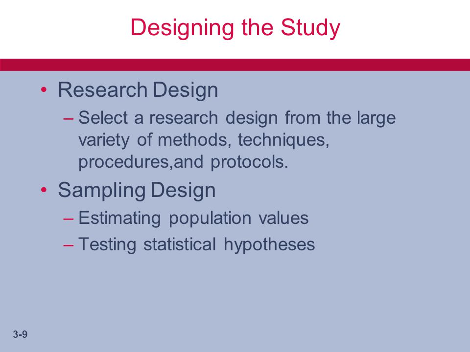 statistic sampling and research design Categories of research design pre – experimental (descriptive) designs  pre-test / post-test control group design controls: random sampling from population.