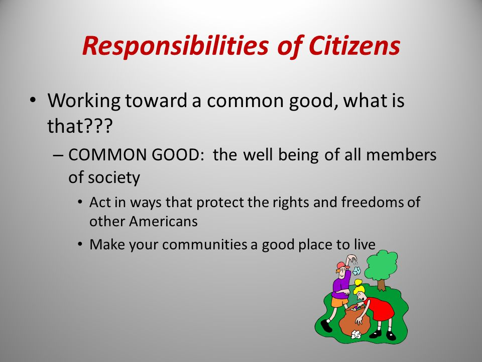 citizenship the rights duties and responsibilities of