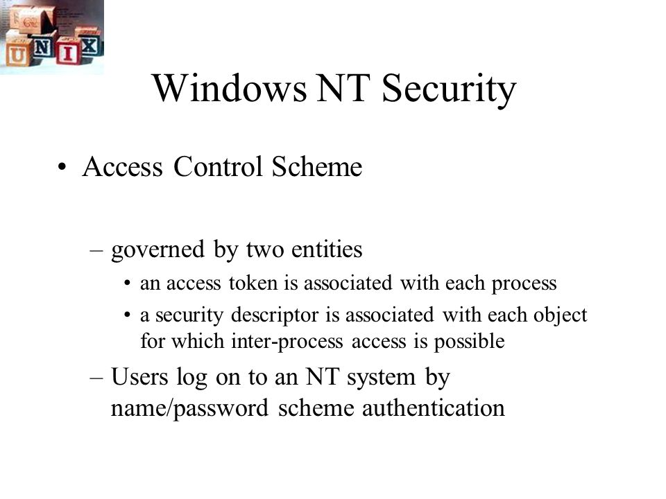 analyzing windows system and secure access control Mandatory access control policies based on vague requirements  juraj masar, jiri bartos, cyril klimes  necessity that the operating system is secure a proposal for secure operating systems and their  platform – ms windows 322 process m2.