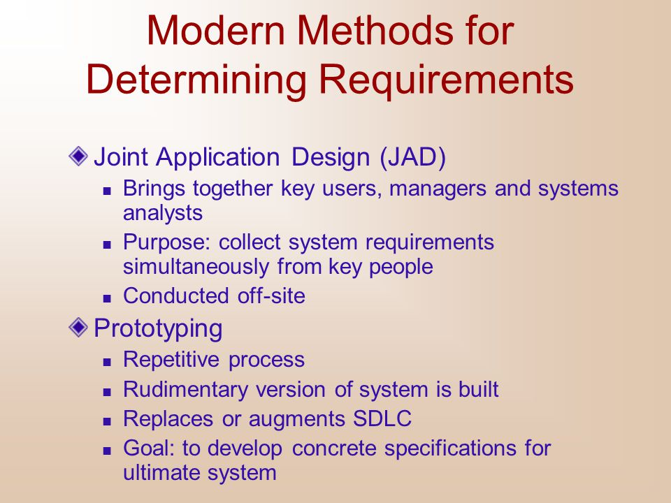 Modern Methods for Determining Requirements