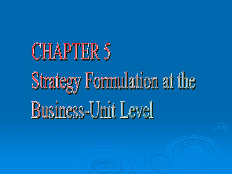 strategy formulation in a business environment The business environment of today is characterized by ever-increasing  turbulence a  one methodology for technology strategy formulation is the booz -allen.