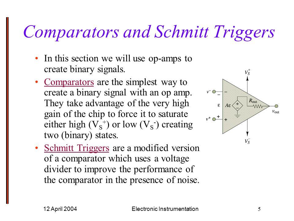 Experiment 10 Comparators And Schmitt Triggers Ppt Video