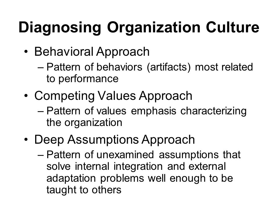 diagnosing behavioural problems in a organisation Dr ralph kilmann's article explains how to diagnose organizations for of organizational problems of dysfunctional behavioral norms is best.