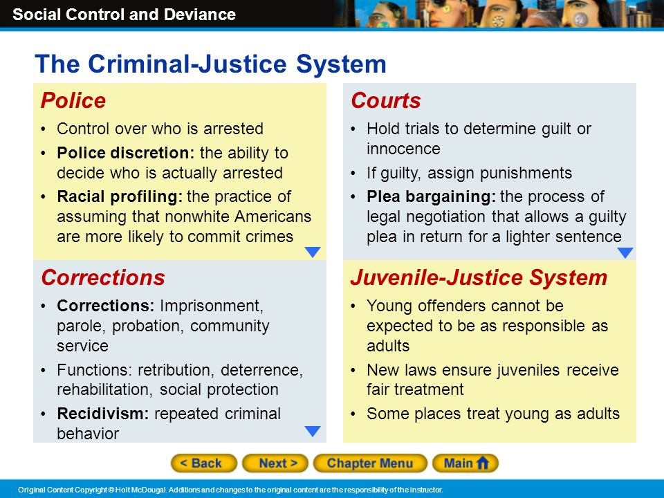criminal behavior system These are legal aspects of selected offenses, the criminal career of the offender, group support of criminal behavior, the correspondence between criminal and legitimate behavior, and social reaction and legal processing.