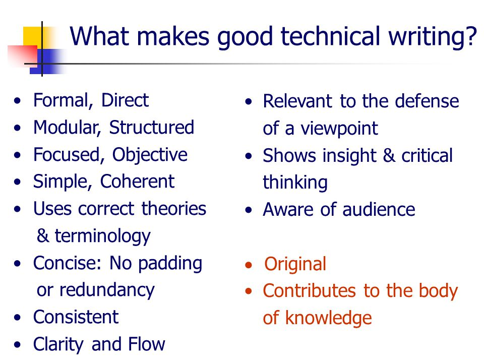 improving your technical writing skills ppt  5 what makes good