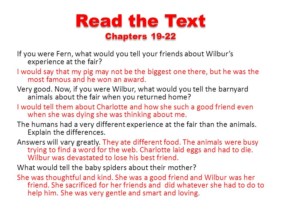 Read the Text Chapters 19-22