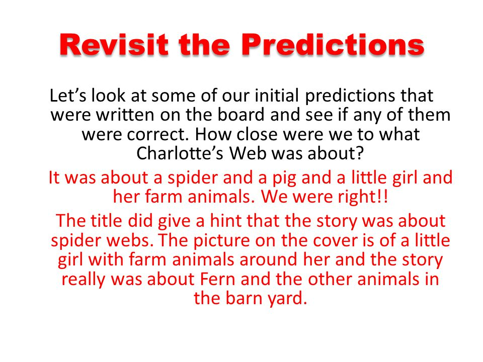 Revisit the Predictions