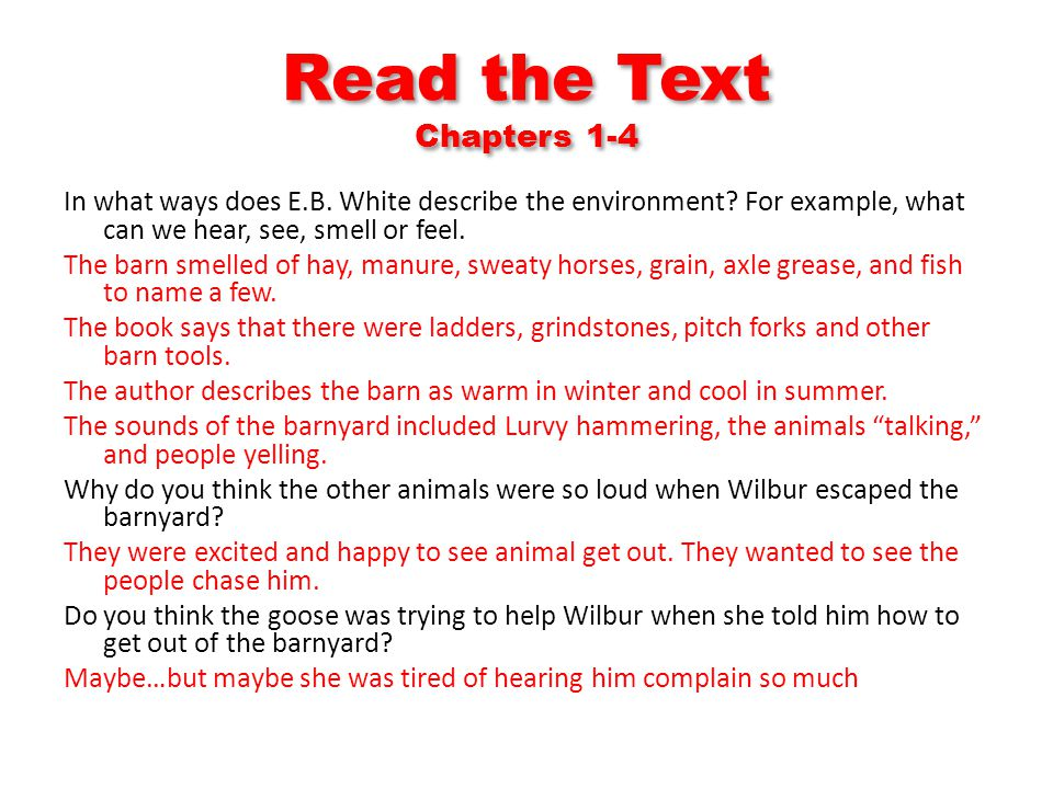 Read the Text Chapters 1-4