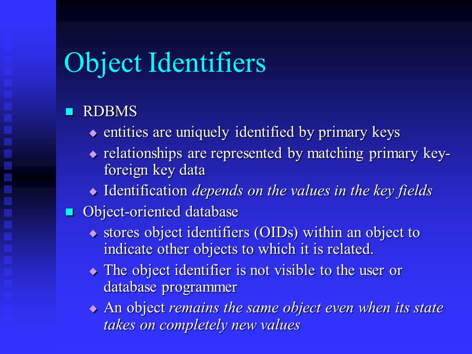 Object oriented Database - ppt video online download