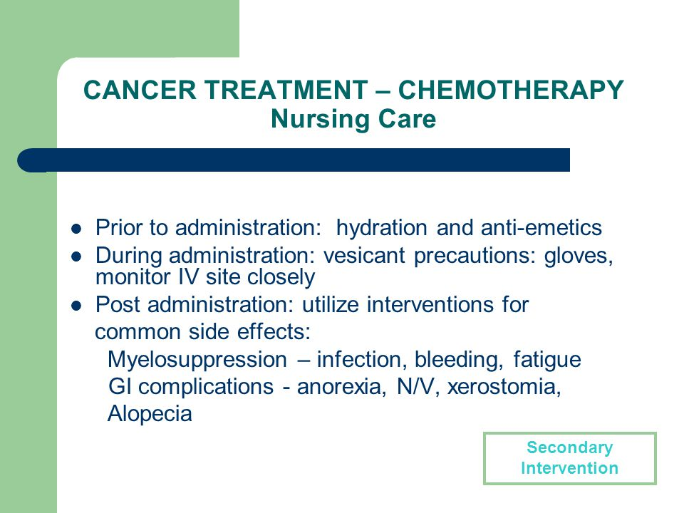 Care Of The Patient With Cancer Nursing Implications