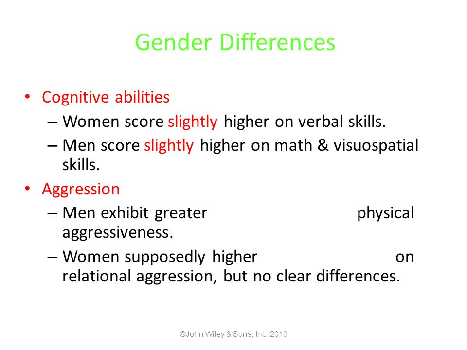 Gender Differences Cognitive abilities