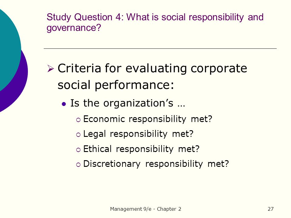 a study of corporate social responsibility Accsr helps organisations create lasting and stakeholder wealth through corporate social responsibilityour learning programs underpin the studies read about.