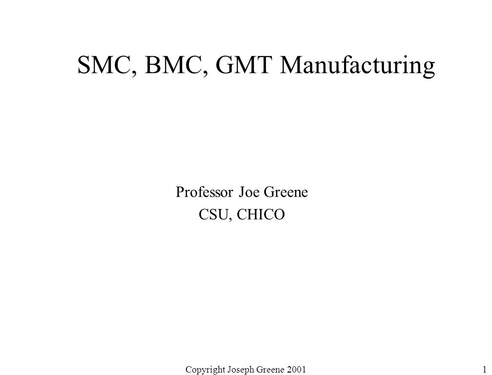 SMC, BMC, GMT Manufacturing