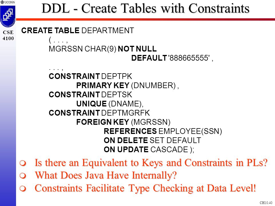 how to create tables in sql with constraints