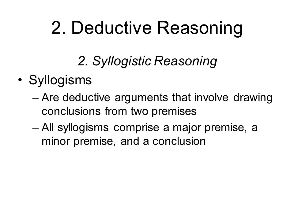 Overview of Examples & Types of Syllogisms