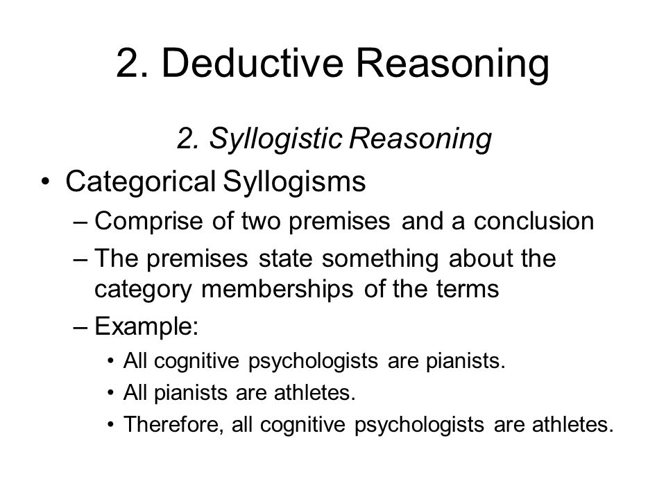 Syllogistic decision making essay