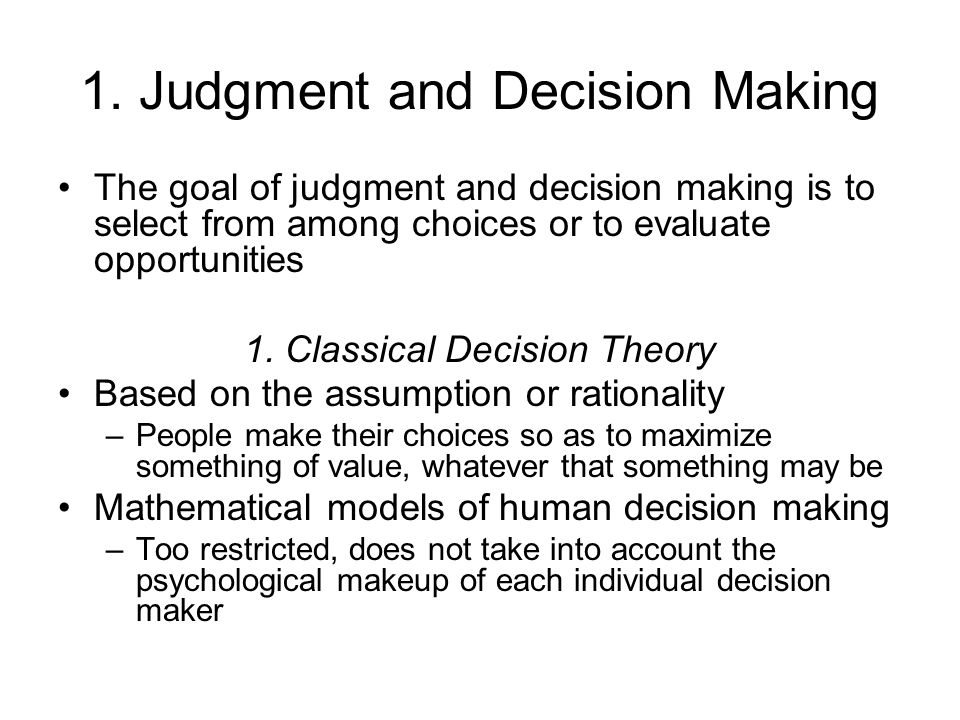abstract of judgement decision making View this abstract online clinical judgement and decision-making in nursing - nine modes of practice in a revised cognitive continuum j adv nurs.