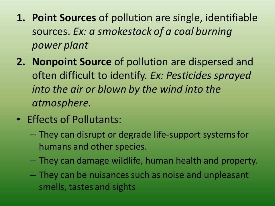 causes of air pollution in points pdf