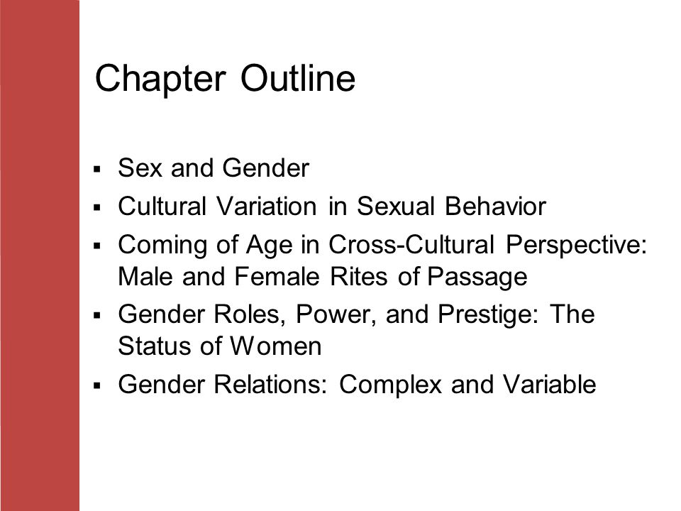 outline and evaluate cross cultural studies of gender role essay Cross-cultural studies reveal that children are aware of gender roles by age two or three at four or five, most children are firmly entrenched in culturally appropriate gender roles (kane 1996) children acquire these roles through socialization, a process in which people learn to behave in a particular way as dictated by societal values, beliefs, and attitudes.