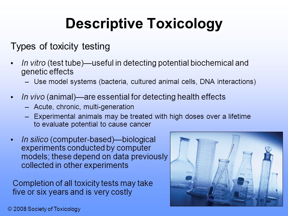 Descriptive Toxicology