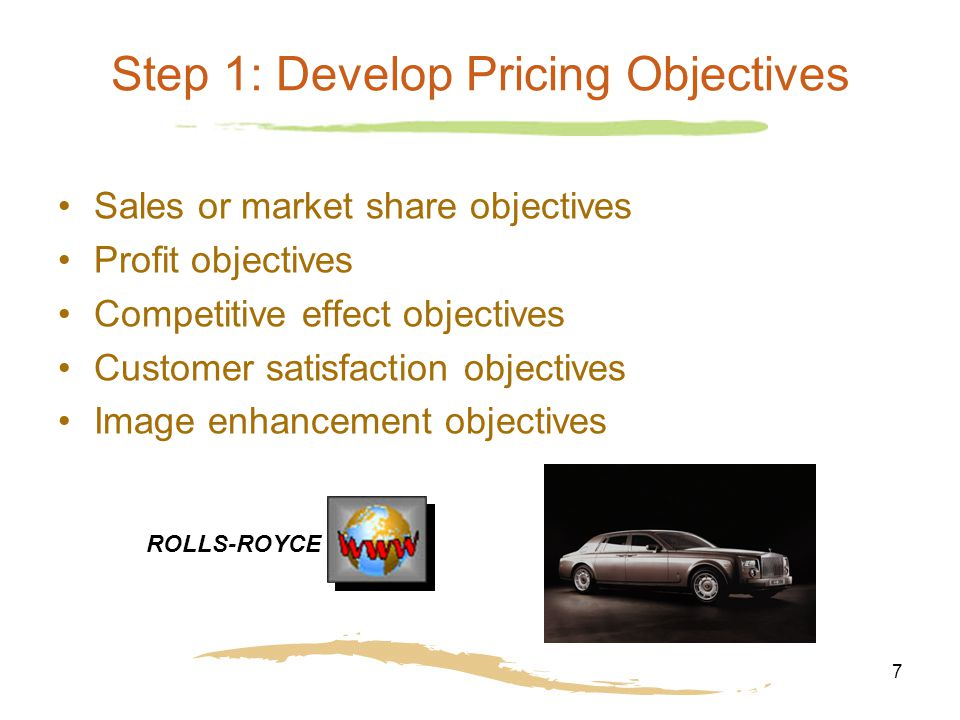 marketing pricing objectives Pricing objectives determine how much you charge for your products based on  marketing objectives while all pricing strategies have the long.