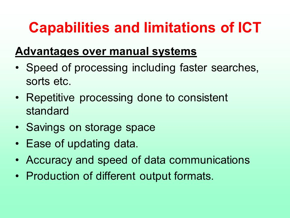 ict capabilities of a software Ict capabilities and possibilities in micro-firms:  current ict capabilities in smes,  technologies and software used at the moment and how skilful the.