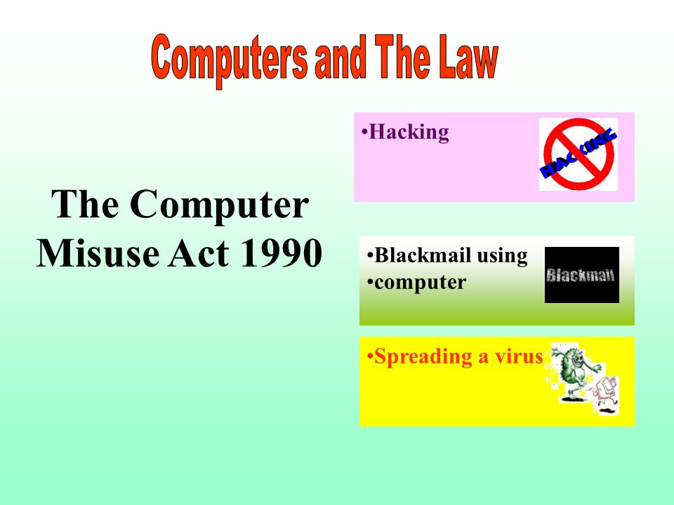 ict data protection computer misuse a The data protection act (dpa) governs the holding and processing of personal data 'personal data' means information which identifies any living individual or.