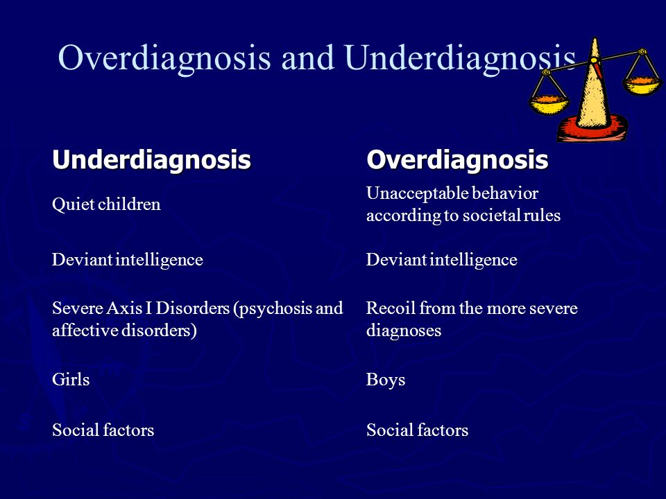 Overdiagnosis and Underdiagnosis