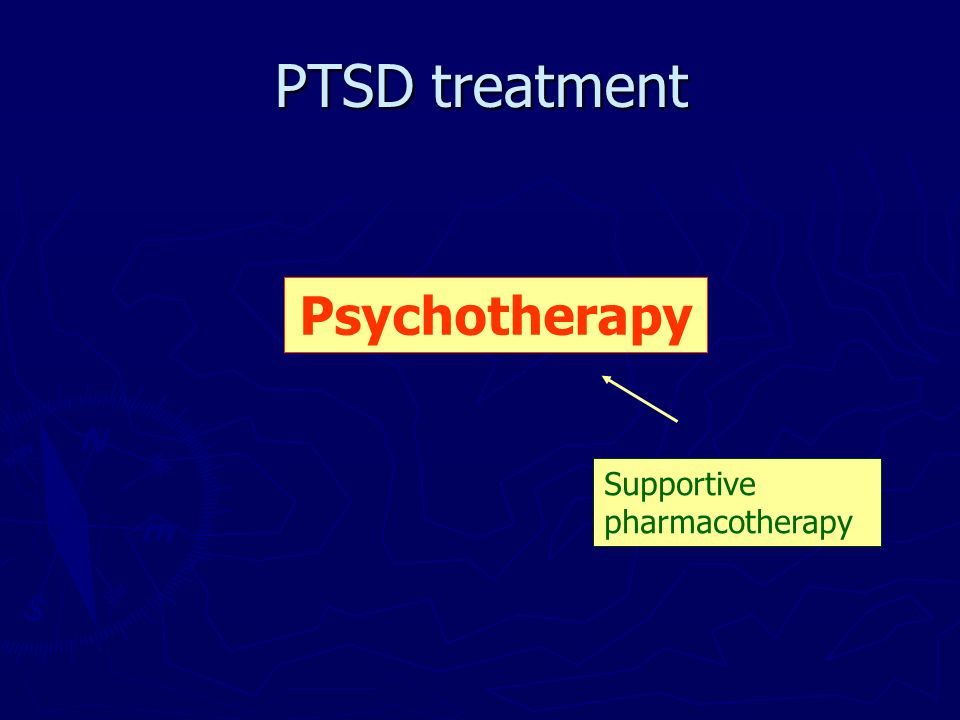 PTSD treatment Psychotherapy Supportive pharmacotherapy