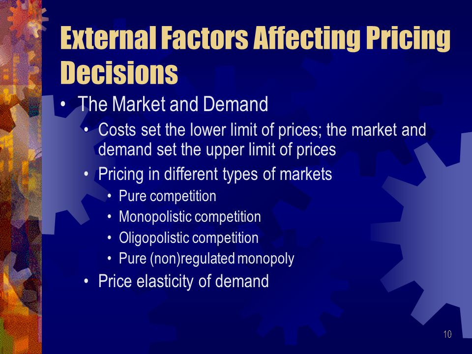 Explain how costs affect pricing decisions essay