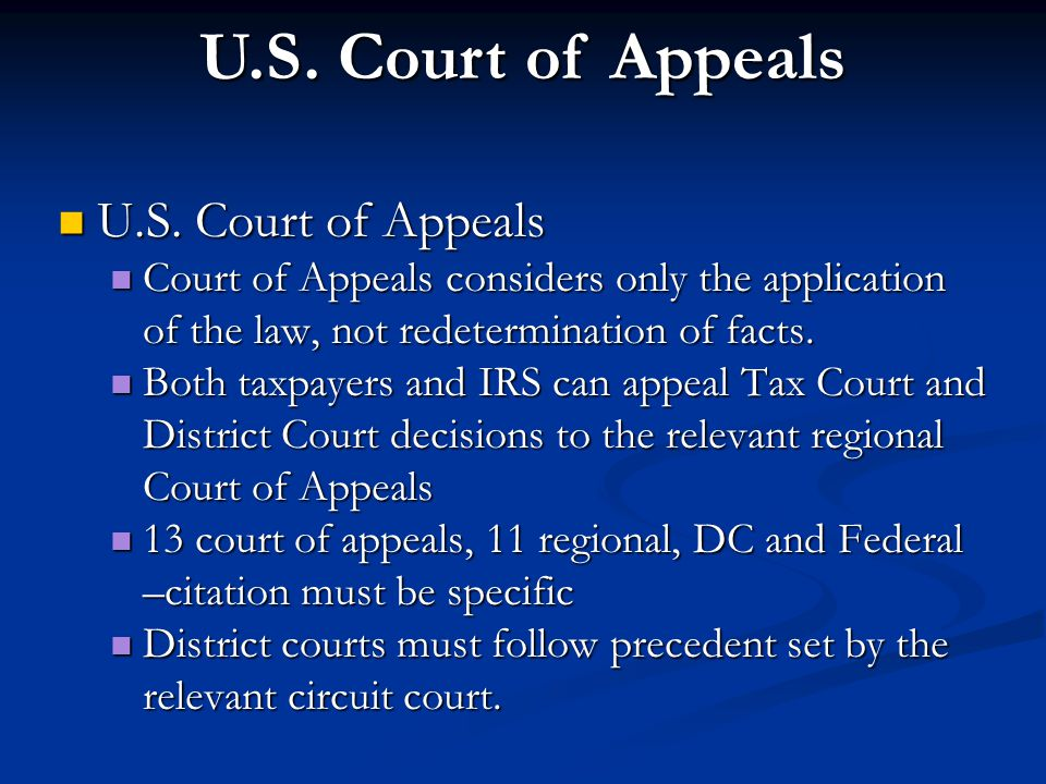 U.S. Court of Appeals U.S. Court of Appeals