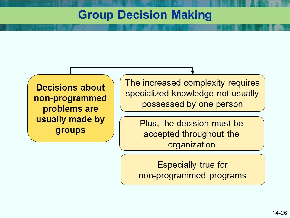 differences between non programmedand and programmed decisions Commercial manager uploaded by  and allocating responsibility between communities and road agencies of the  some of these differences are logical and.
