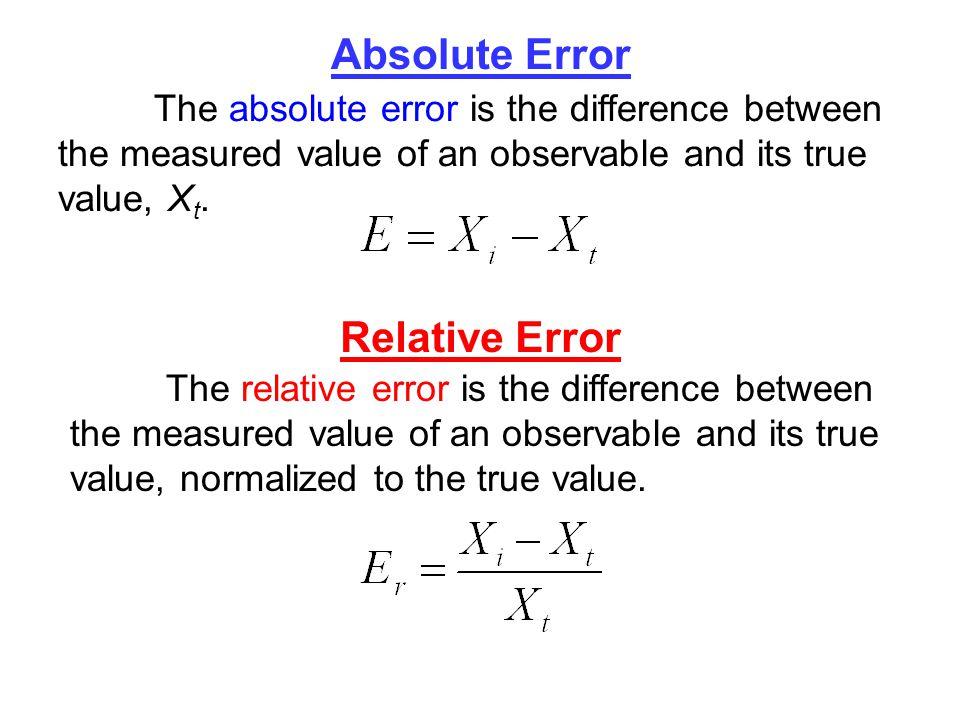 equation for relative error