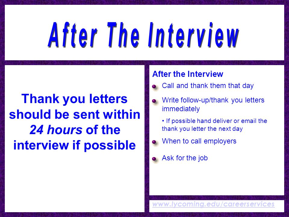how to i call for an interview