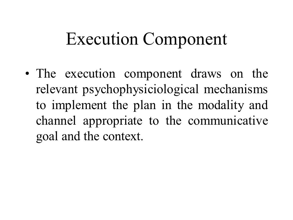 Execution Component