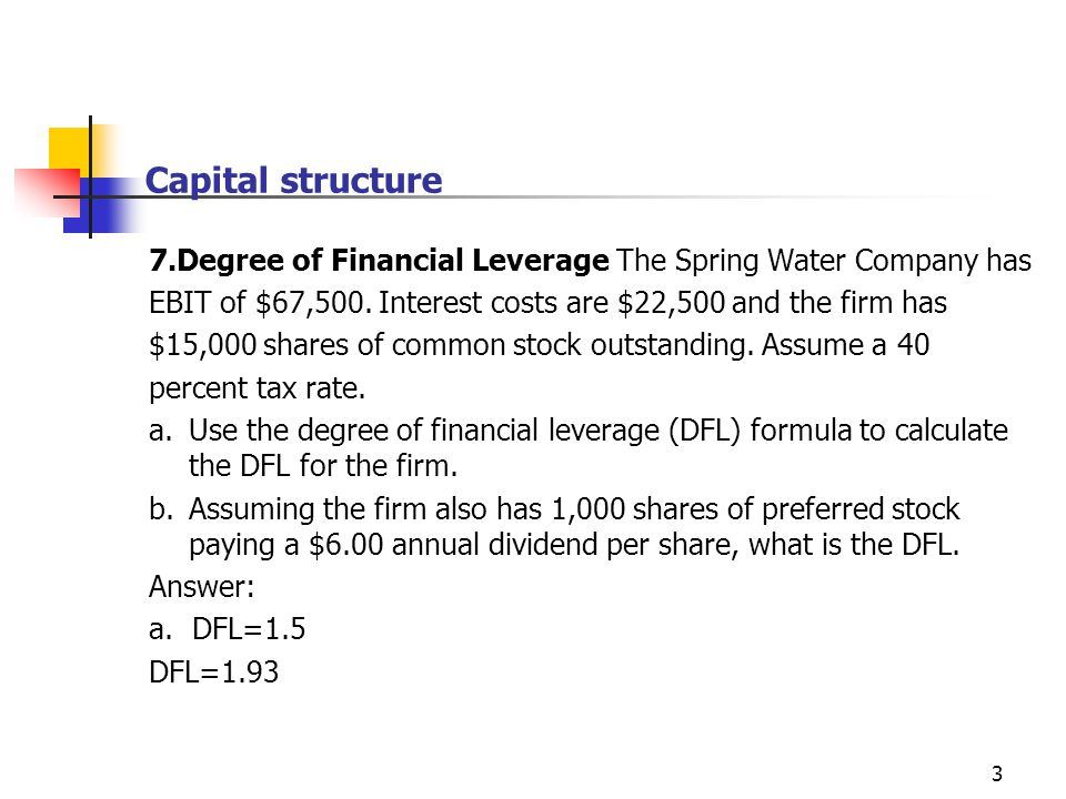 business financing and the capital structure 2 essay Factors affecting capital structure decisions mbalectures can imply financial leverage in better way as it will have less business risk assets structure: stock market or the short-term debt market without taking consideration of target capital structure financial.