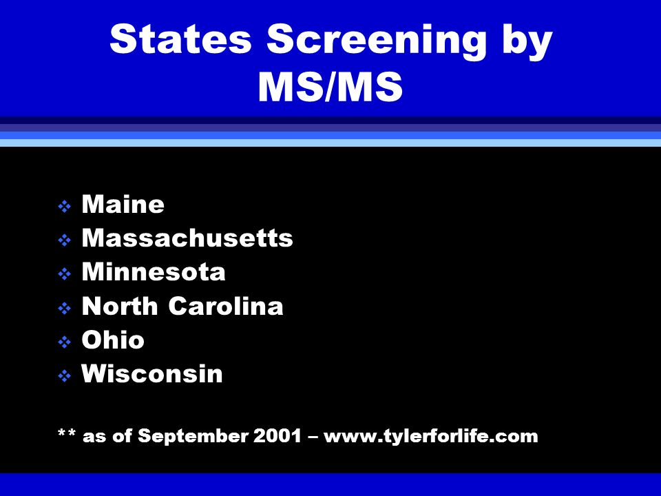 States Screening by MS/MS