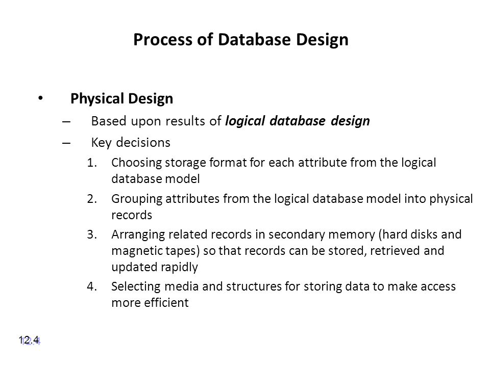 Process of Database Design