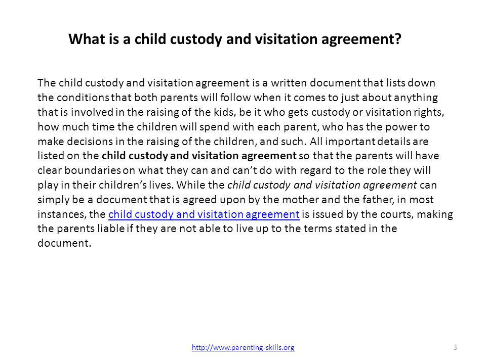 how to get a custody agreement