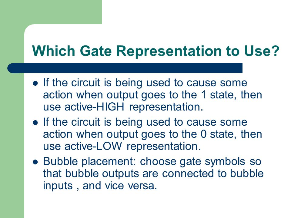 Which Gate Representation to Use