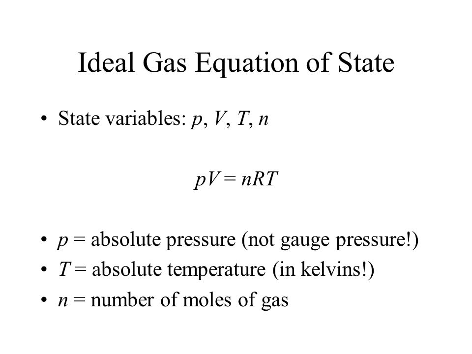 state equation In physics and thermodynamics, an equation of state is a thermodynamic equation relating state variables which describe the state of matter under a given set of physical conditions, such as pressure, volume, temperature (pvt), or internal energy.