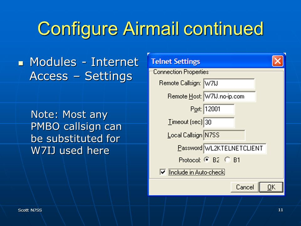 Configure Airmail continued