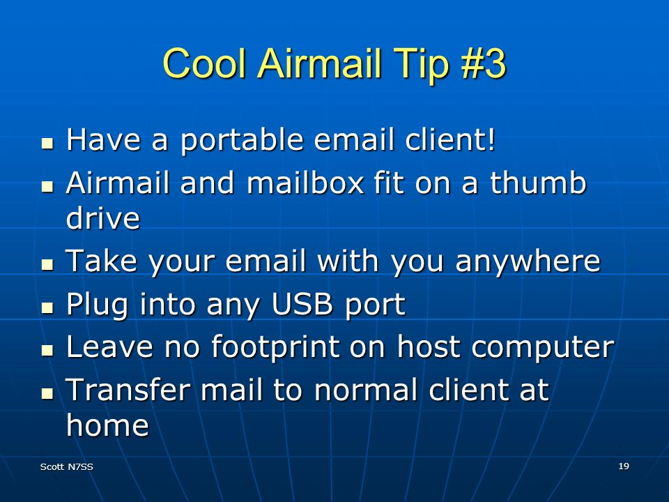 Cool Airmail Tip #3 Have a portable email client!