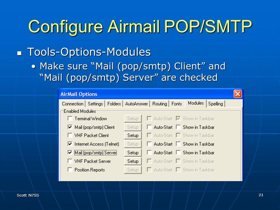 Configure Airmail POP/SMTP