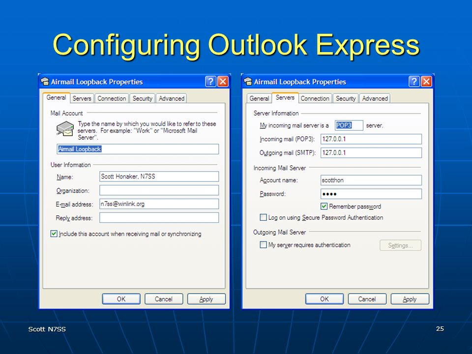 Configuring Outlook Express